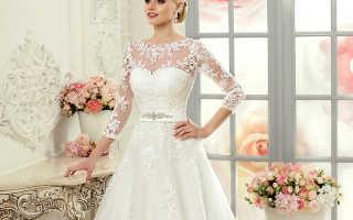 Свадебное платье с кружевным верхом: фото