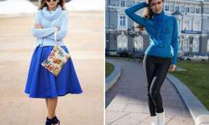 Голубые свитеры: с чем носить и как выбрать