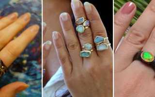Кольцо с опалом: описание и фото