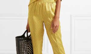 С чем носить желтые брюки?