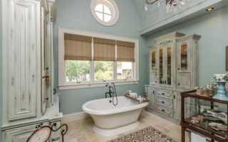Плитка в стиле прованс в интерьере ванной