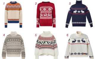 Новогодние свитеры: с чем носить и как выбрать