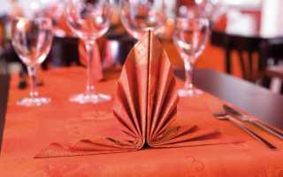 Как красиво сложить салфетки на праздничный стол?