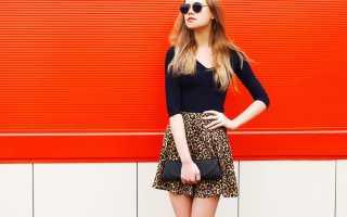 Леопардовая юбка: с чем носить, фото