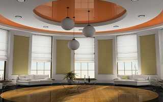 Двухуровневые натяжные потолки для зала: особенности и варианты дизайна