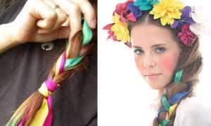 Тонкости плетения кос с лентами